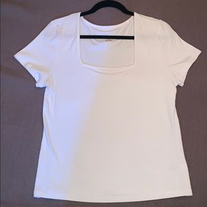 A New Day Ribbed White Top Size X-Large